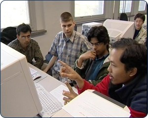 Computational Logic students in the computer lab