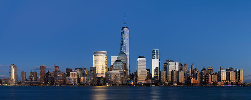 Lower Manhattan from Jersey City November 2014 panorama 3