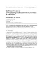 Leftmost Derivations of Propagating Scattered Context Grammars: A New Proof