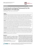 A rule-based ontological framework for the classification of molecules