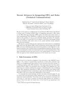 Recent Advances in Integrating OWL and Rules