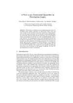 A New n-ary Existential Quantifier in Description Logics