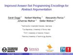 Slides: Improved Answer-Set Programming Encodings for Abstract Argumentation