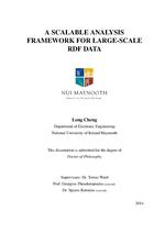 A Scalable Analysis Framework for Large-scale RDF Data