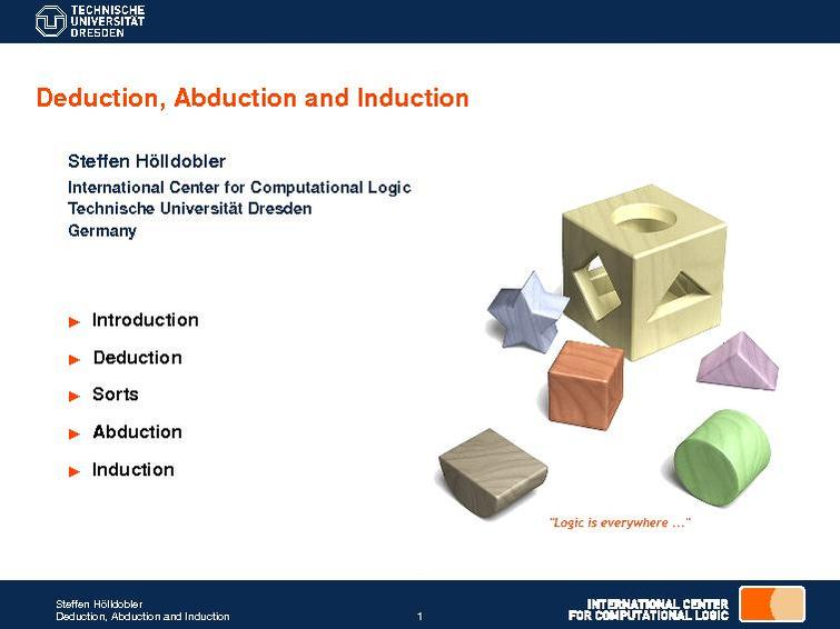 Deduction, Abduction and Induction