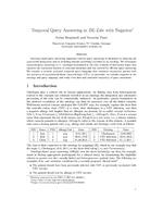 Temporal Query Answering in DL-Lite with Negation