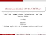 Slides: Preserving Constraints with the Stable Chase
