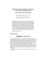 Presburger Concept Cardinality Constraints in Very Expressive Description Logics – Allegro sexagenarioso ma non ritardando