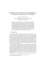 Module Extraction and Incremental Classification: A Pragmatic Approach for EL^+ Ontologies