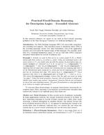 Practical Fixed-Domain Reasoning for Description Logics - Extended Abstract