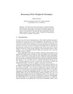 Reasoning With Weighted Ontologies