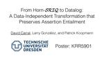 Slides: From Horn-SRIQ to Datalog: A Data-Independent Transformation that Preserves Assertion Entailment