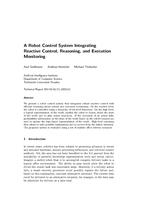 A robot control system integrating reactive control, reasoning, and execution monitoring