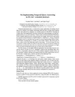 On Implementing Temporal Query Answering in DL-Lite (extended abstract)