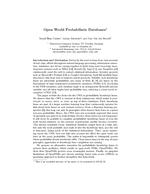 Open-World Probabilistic Databases (Extended Abstract)