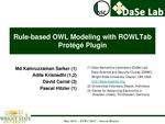 Slides: Rule-Based OWL Modeling with ROWLTab Protégé Plugin