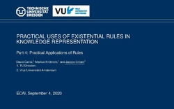 Slides for Part 4: Practical Applications of Rules