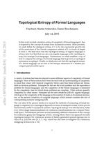 Topological Entropy of Formal Languages