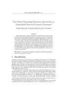 Two Power-Decreasing Derivation Restrictions in Generalized Scattered Context Grammars