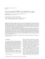 Paraconsistent OWL and Related Logics