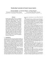 Membership Constraints in Formal Concept Analysis