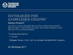 Slides: Ontologies for Knowledge Graphs?