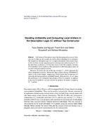 Deciding Unifiability and Computing Local Unifiers in the Description Logic EL without Top Constructor