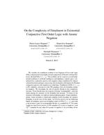 On the complexity of entailment in existential conjunctive first-order logic with atomic negation