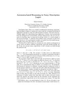 Automata-based Reasoning in Fuzzy Description Logics