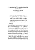 A Practical Approach for Computing Generalization Inferences in EL