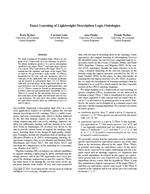 Exact Learning of Lightweight Description Logic Ontologies