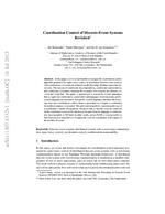 Coordination control of discrete-event systems revisited