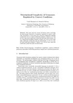 Descriptional Complexity of Grammars Regulated by Context Conditions