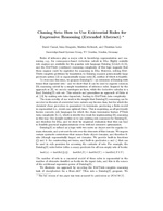 Chasing Sets: How to Use Existential Rules for Expressive Reasoning (Extended Abstract)